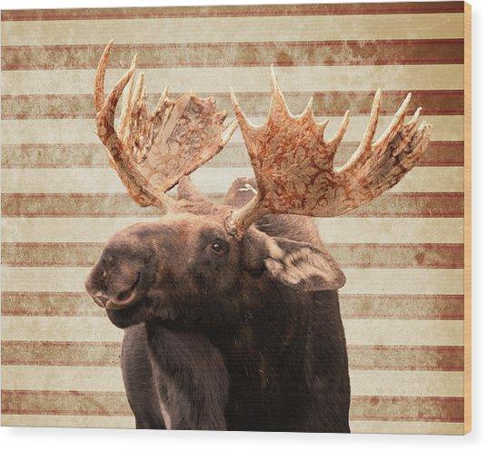 Moosely Wood Print