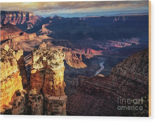 Wood Print featuring the photograph Moran Point 3 by Scott Kemper