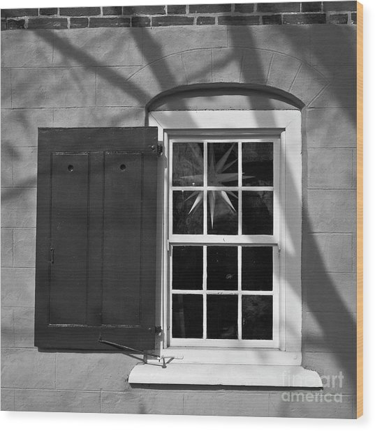 Wood Print featuring the photograph Moravian Window by Patrick M Lynch
