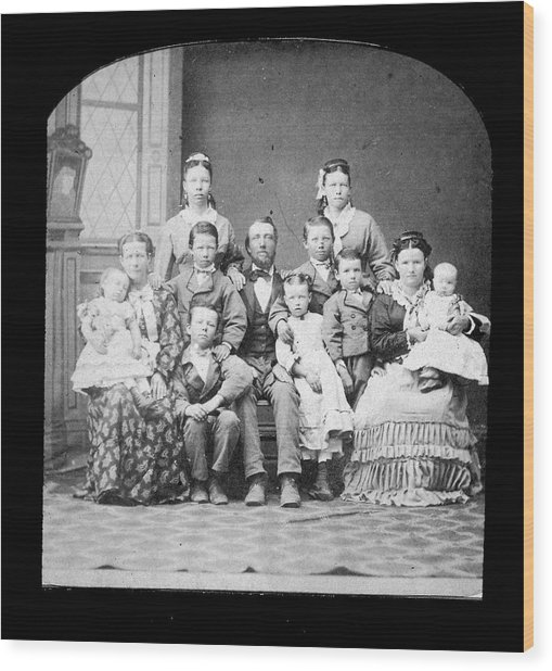 Mormon Family Wood Print by Kean Collection
