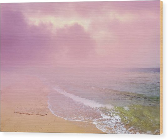 Morning Hour By The Seashore In Dreamland Wood Print