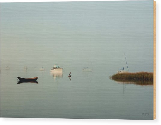 Wood Print featuring the photograph Morning Mist Bristol Harbor II by David Gordon
