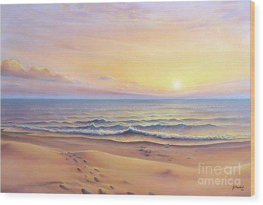 Morning Sea Breeze Wood Print