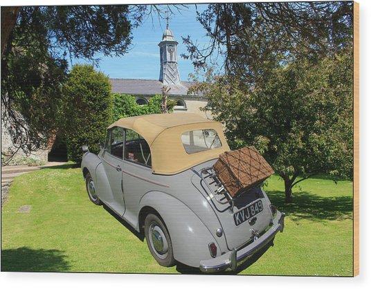 Morris Minor Grey Convertible Wood Print