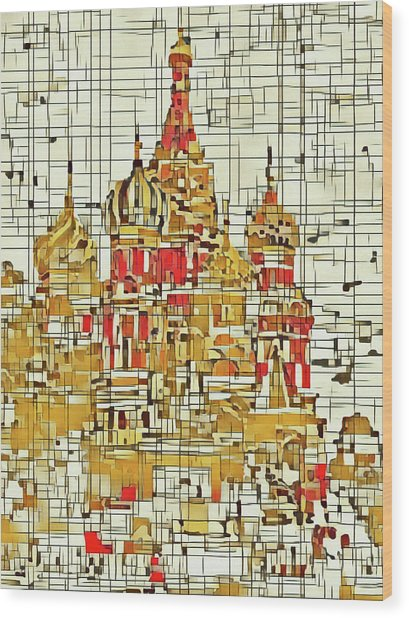Moscow Wood Print