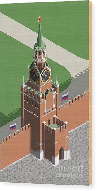 Moscow Kremlin Tower Wood Print