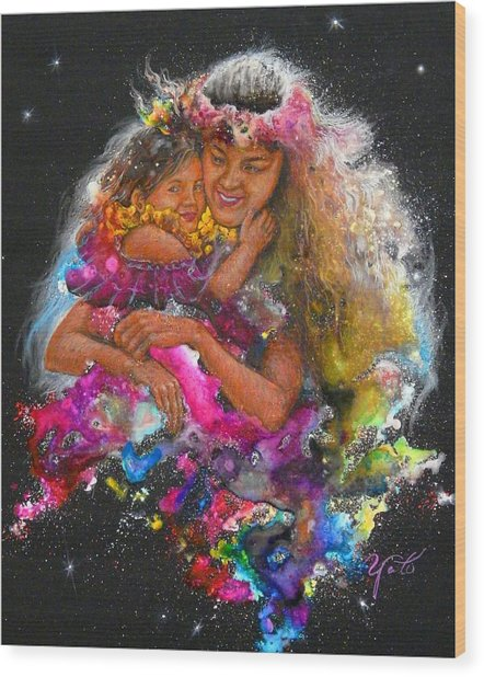 Mother Love Is Forever Wood Print