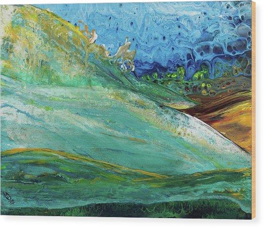 Mother Nature - Landscape View Wood Print