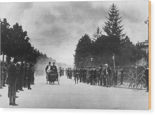 Motor Race Wood Print by Hulton Archive