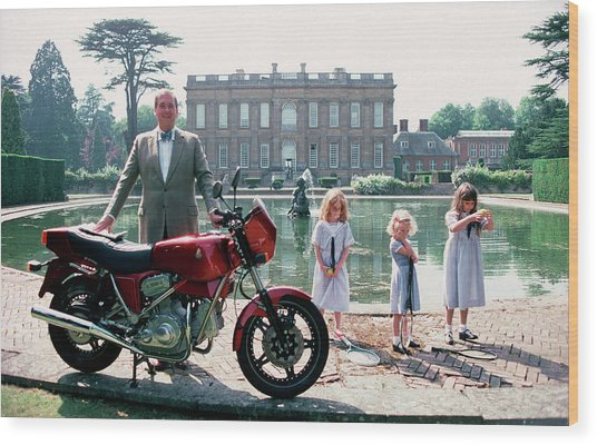 Motorcycling Lord Wood Print