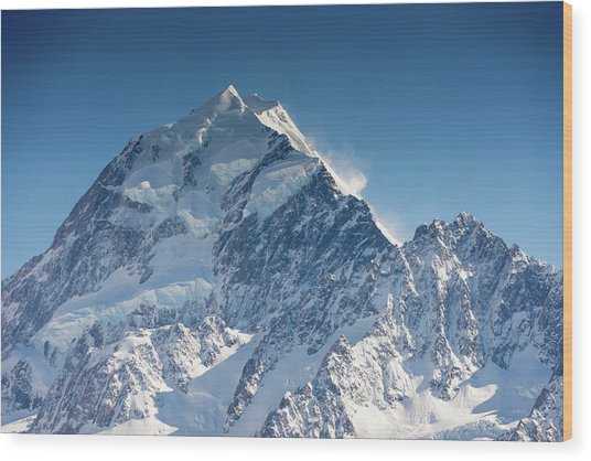 Mount Cook Aoraki Summit Ridge Wood Print