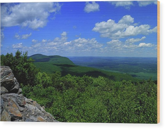 Wood Print featuring the photograph Mount Everett And Mount Race From The Summit Of Bear Mountain In Connecticut by Raymond Salani III