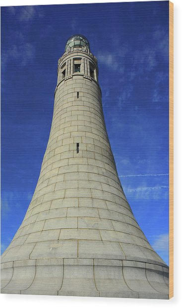 Wood Print featuring the photograph Mount Greylock Tower Up And Close by Raymond Salani III