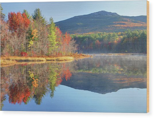 Mount Monadnock In Autumn Wood Print by Denistangneyjr