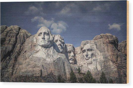 Mount Rushmore I Wood Print