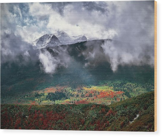 Mountain Autumn Wood Print