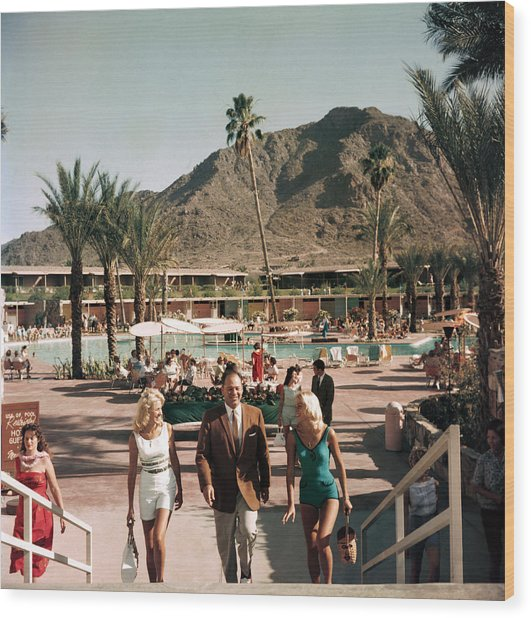 Mountain Shadows Resort Wood Print by Slim Aarons