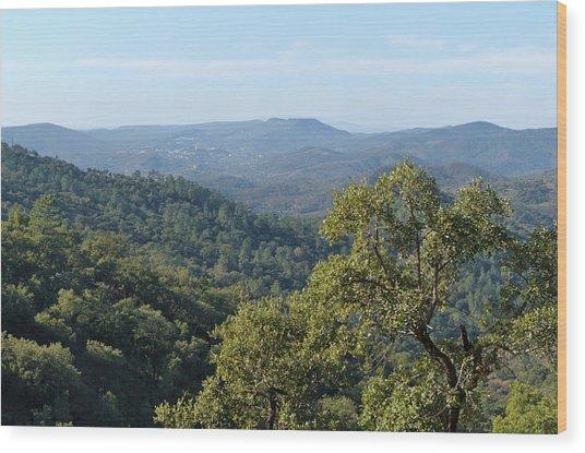 Mountains Of Loule. Serra Do Caldeirao Wood Print
