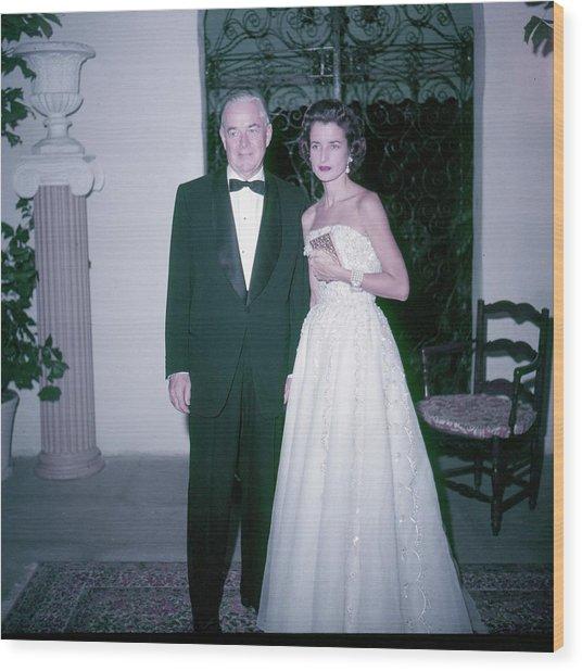 Mrs And Mrs Charles B Wrightsman Wood Print