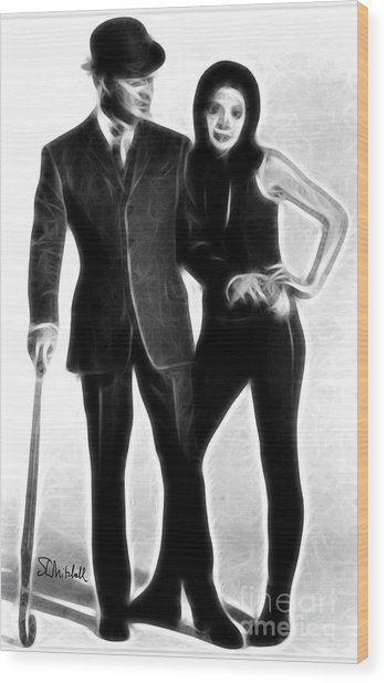 Mrs. Peel, We're Needed Wood Print