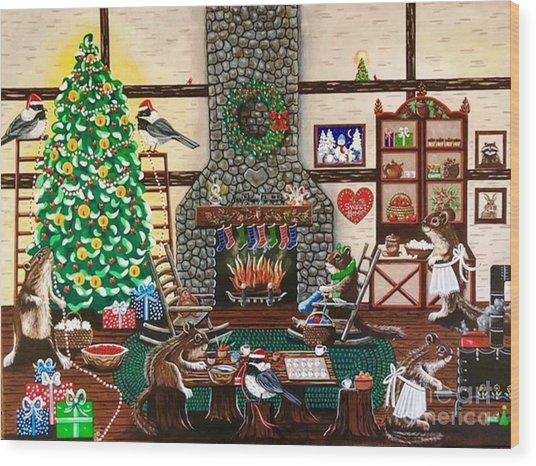 Ms. Elizabeth's Holiday Home Wood Print