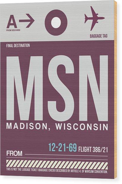 Msn Madison Luggage Wood Print