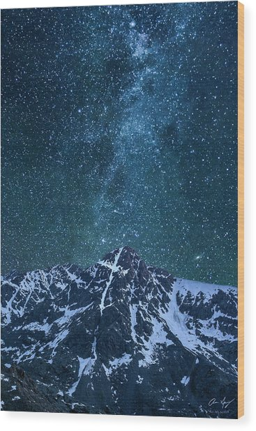 Mt. Of The Holy Cross Milky Way Wood Print