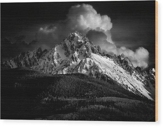 Mt Sneffels Drama Wood Print