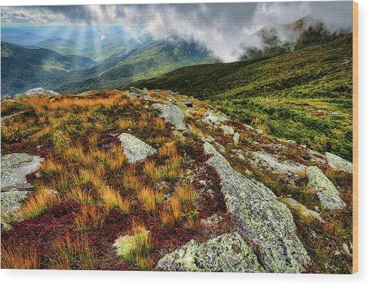 Mt. Washington Nh, Autumn Rays Wood Print