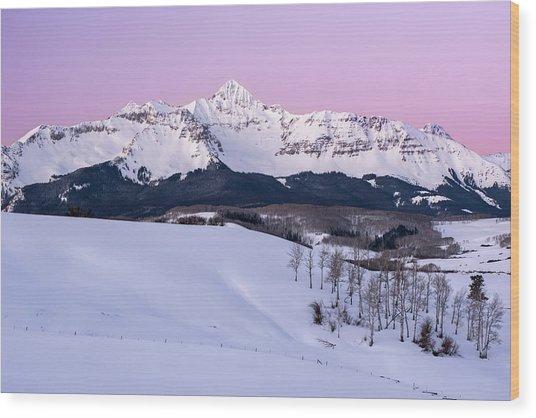 Mt Wilson Wood Print