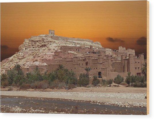 Mud Brick Buildings Of The Ait Ben Haddou Wood Print