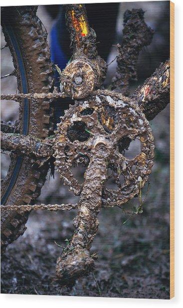 Muddy Bicycle, Close-up Wood Print by Anton Want