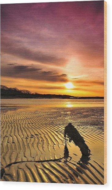 Muddy Sunrise Wood Print