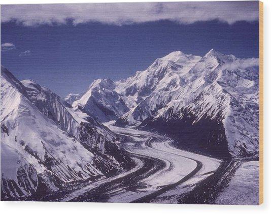 Muldrow Glacier Wood Print by Hulton Archive