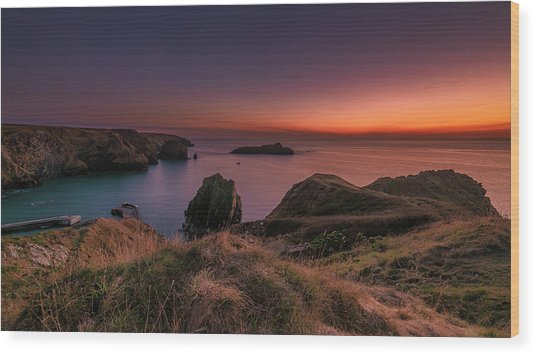 Mullion Cove - Sunset 2 Wood Print