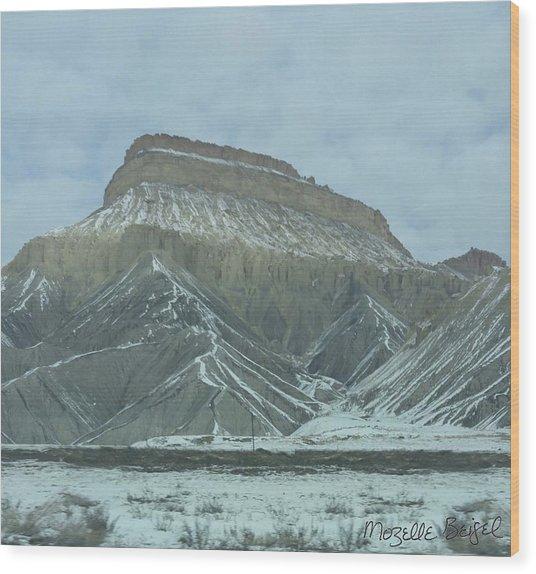 Multi-level Mountains Wood Print