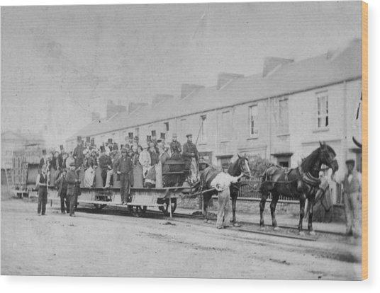 Mumbles Train Wood Print by Hulton Archive