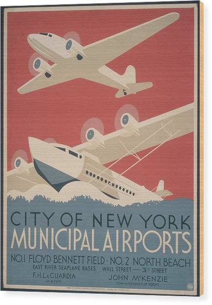 Municipal Airports Poster Wood Print by Fotosearch