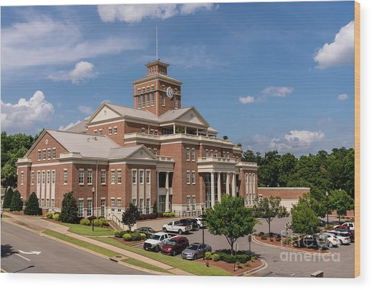 Municipal Building - North Augusta Sc Wood Print