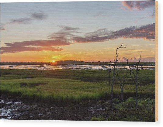Murrells Inlet Sunrise - August 4 2019 Wood Print