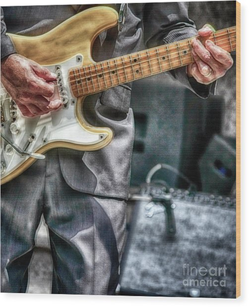 Music By The Neck  Wood Print by Steven Digman