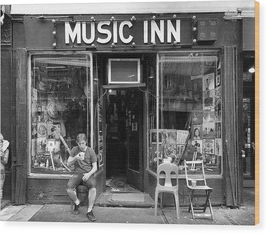 Music Inn Wood Print