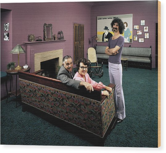 Musician Frank Zappa R W. Parents L-r Wood Print