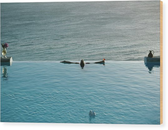 Mustique Pool Wood Print by Slim Aarons