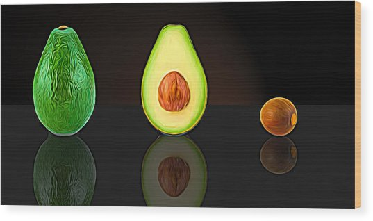 My Avocado Dream Wood Print