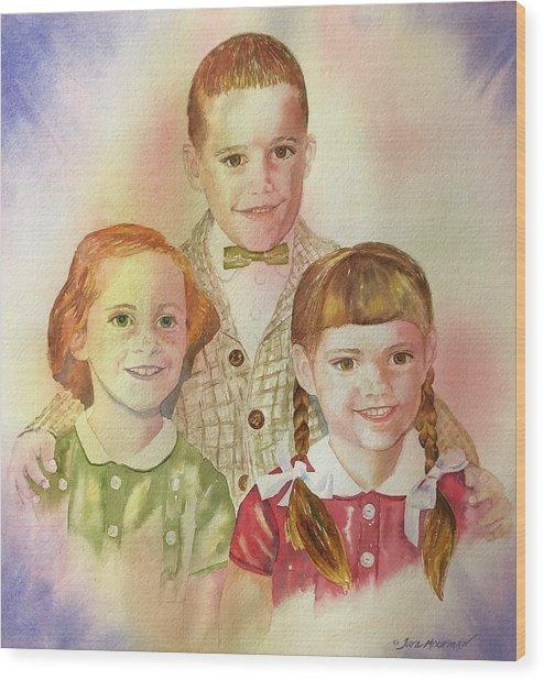 The Latimer Kids Wood Print