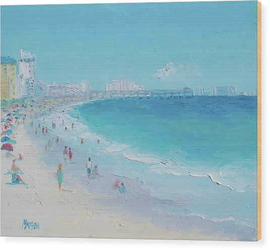 Myrtle Beach And Springmaid Pier Wood Print