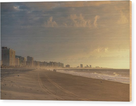 Myrtle Sunrise Wood Print