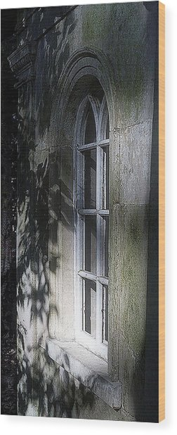 Mysterious Window Wood Print