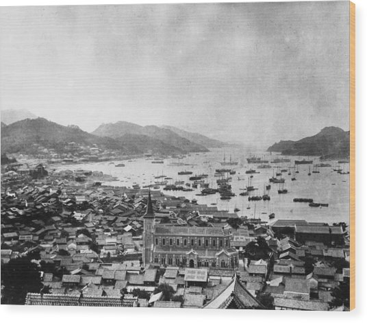 Nagasaki Harbour Wood Print by Topical Press Agency